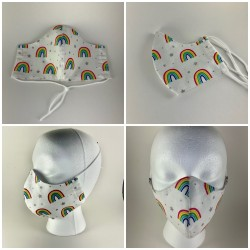 Rainbow Tie Face Mask with...