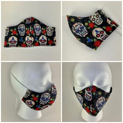 Day of Dead Skulls Tie Face...