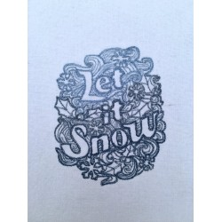 Embroidered Let it Snow...